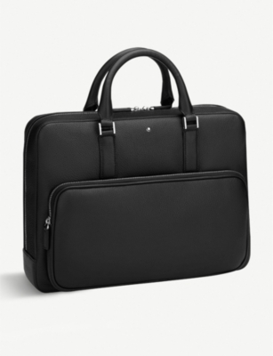 MONTBLANC Front pocket detail leather briefcase