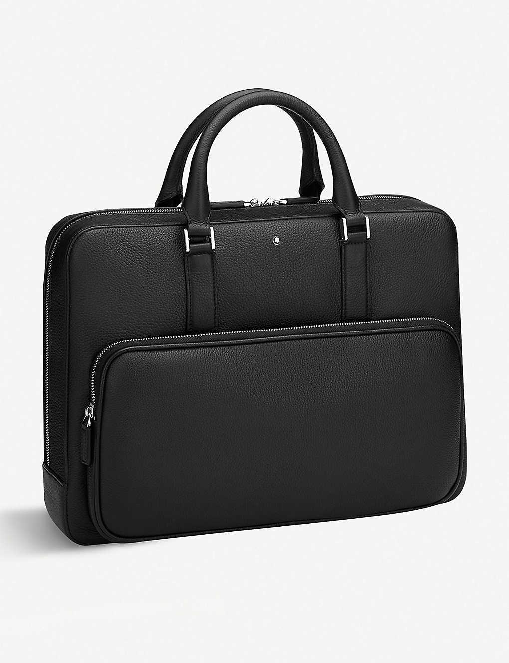 ef5bbbe584 MONTBLANC - Front pocket detail leather briefcase | Selfridges.com