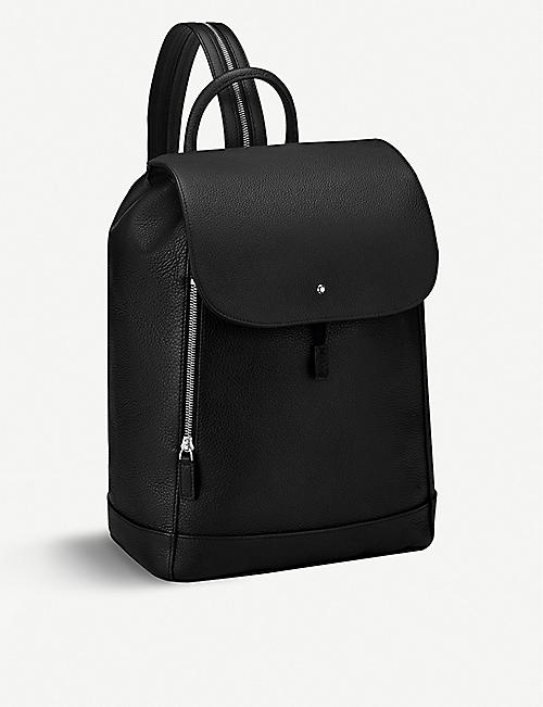 MONTBLANC: Meisterstück one shoulder leather rucksack