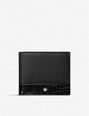 MONTBLANC Meisterstück Soft Grain contrast-panel 6-card leather wallet
