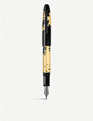 MONTBLANC: Meisterstück Solitaire Calligraphy 18ct gold-coated fountain pen