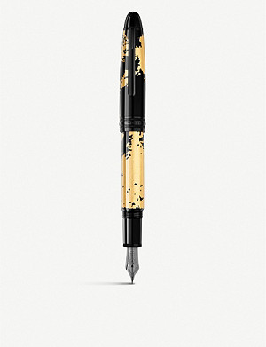 MONTBLANC Meisterstück Solitaire Calligraphy 18ct gold-coated fountain pen