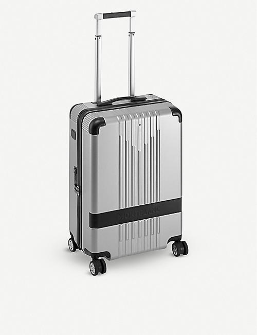 MONTBLANC My4810 shell and leather cabin trolley 37l