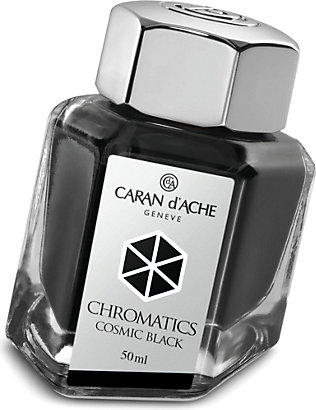 CARAN D'ACHE: Chromatics cosmic black ink bottle 50ml