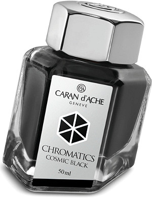 CARAN D'ACHE Chromatics cosmic black ink bottle 50ml