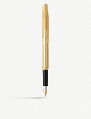 SHEAFFER Sagaris fluted gold-tone fountain pen