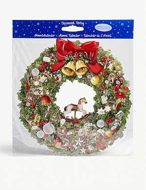 CHRISTMAS Victorian wreath-shaped advent calendar