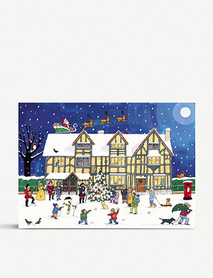CHRISTMAS The Old Town House at Christmas advent calendar A3