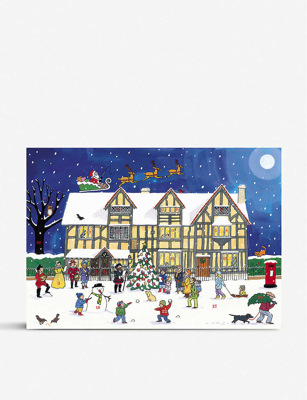 CHRISTMAS: The Old Town House at Christmas advent calendar A3
