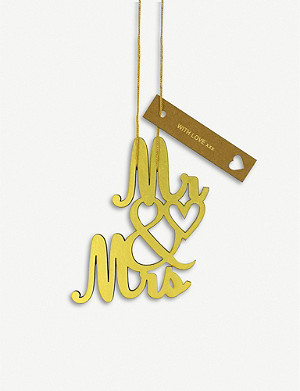 VIVID WRAP Mr & Mrs foil decoration