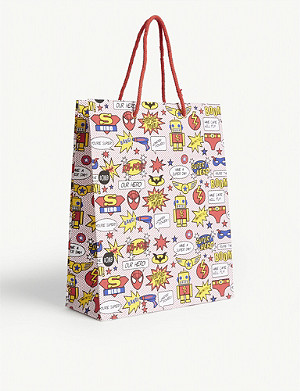 VIVID WRAP Superhero gift bag 31cm x 25cm