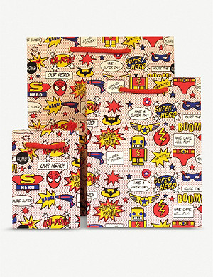 VIVID WRAP Superhero gift bag 24cm x 18cm