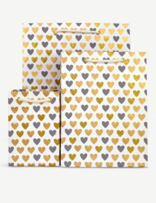 VIVID WRAP Heart-print large gift bag