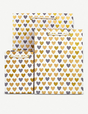 VIVID WRAP Heart-print mini gift bag