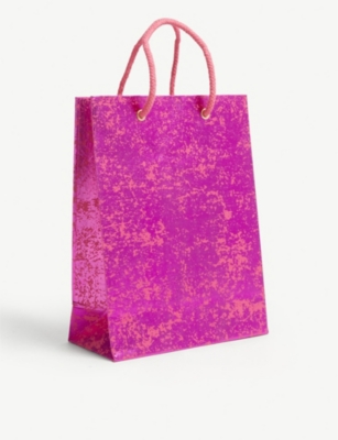 VIVID WRAP Metallic crush paper gift bag 24.5cm