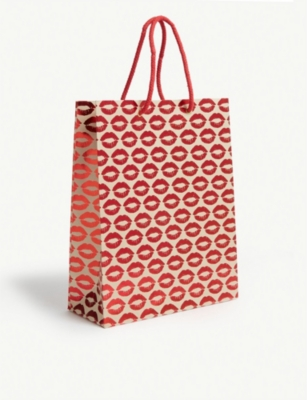 VIVID WRAP Kisses print paper gift bag 31cm
