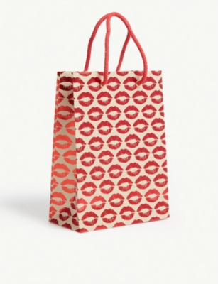 VIVID WRAP Kisses print paper gift bag 24.5cm