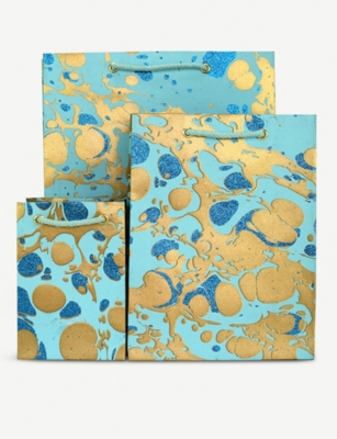 VIVID WRAP Marble-print large gift bag