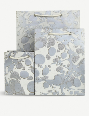 VIVID WRAP Glitter Marble medium gift bag 18.5x9cx24cm