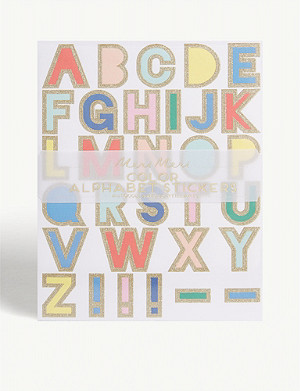 MERI MERI Alphabet sticker set 10 sheets