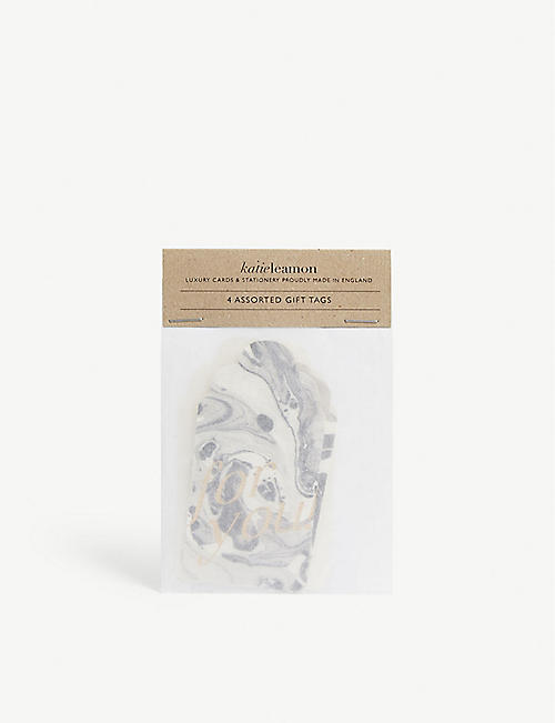 KATIE LEAMON Assorted marble tags