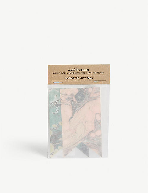 KATIE LEAMON Marble gift tags