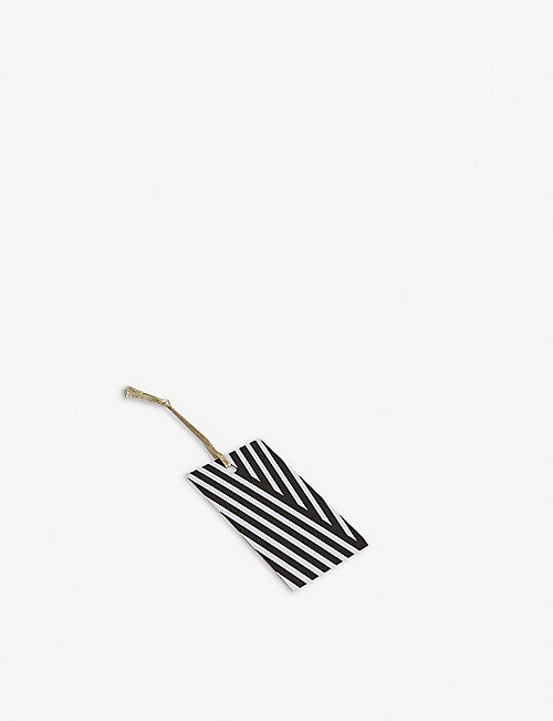 BERINMADE Stripey gift tags pack of five