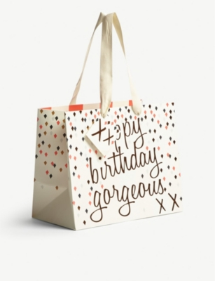 CAROLINE GARDNER Ooh Happy Birthday landscape gift bag