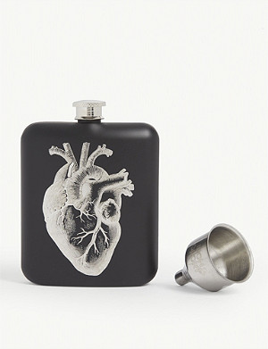 LUCKIES OF LONDON Iron & Glory For Medicinal Purposes 6oz hip flask