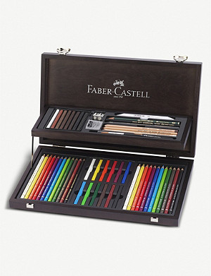 FABER CASTELL Art and Graphic wooden compendium