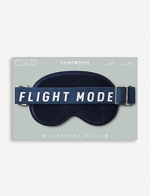 PRINT WORKS Flight Mode faux-leather eye mask