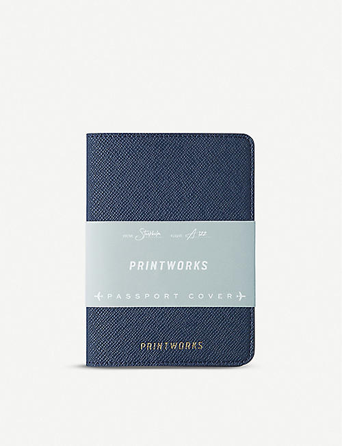 PRINT WORKS Faux-leather passport holder