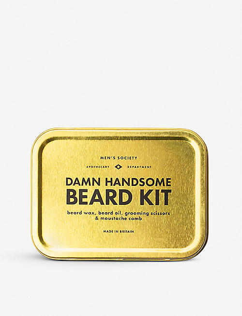 MENS SOCIETY Damn Handsome Beard Grooming Kit