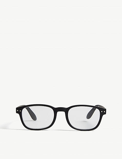 IZIPIZI: #B Reading square-frame glasses +1.5