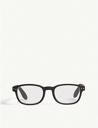 IZIPIZI: #B Reading square-frame glasses +2.00