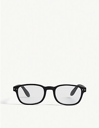 IZIPIZI: #B Reading square-frame glasses +2.5