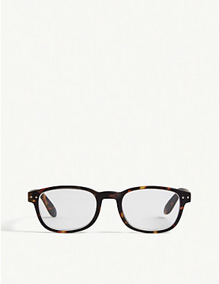IZIPIZI: #B Reading square-frame glasses +1