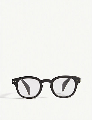 IZIPIZI: #C Reading square-frame glasses +1