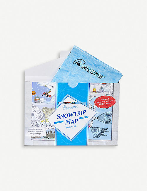 CHRISTMAS Awesome Maps Snowtrip foldable map