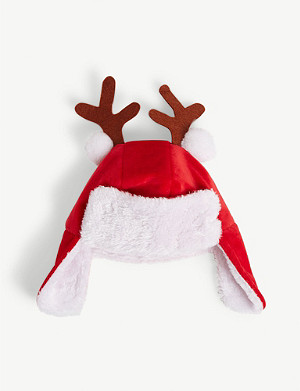 KURT ADLER Kids Christmas hat with antlers