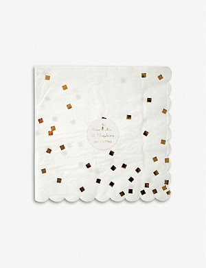 MERI MERI Foiled large confetti napkins pack of 16