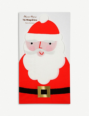 MERI MERI Santa Christmas Napkins pack of 16