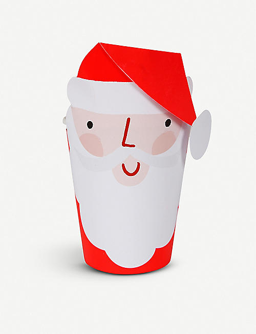 MERI MERI Santa Christmas cups pack of 8