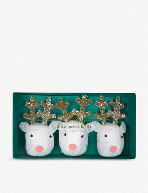 MERI MERI Reindeer Surprise Christmas Cracker Balls pack of three