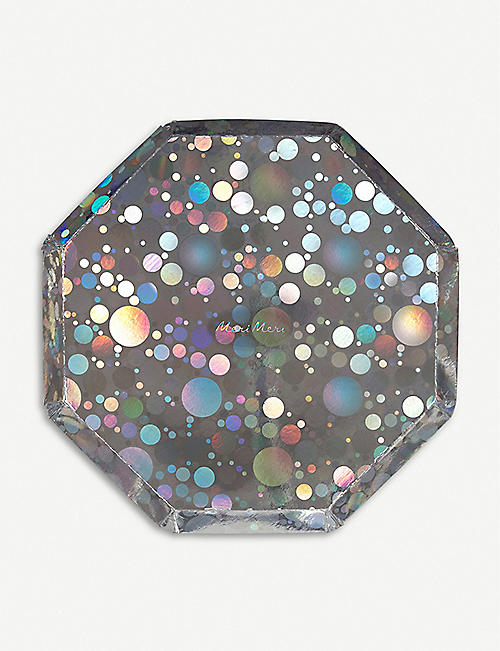 MERI MERI Holographic sparkle party plates pack of 8