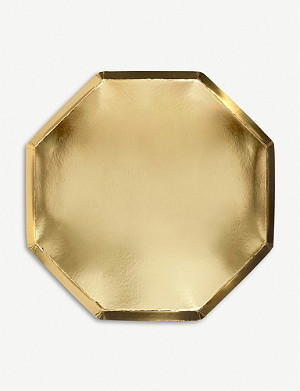 MERI MERI Foiled octagonal dinner plates pack of 8