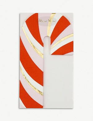 MERI MERI Candy Cane napkins pack of 19