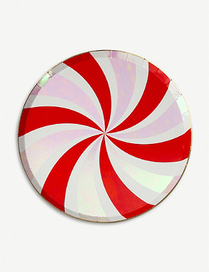 MERI MERI Peppermint Swirl side plates pack of 8