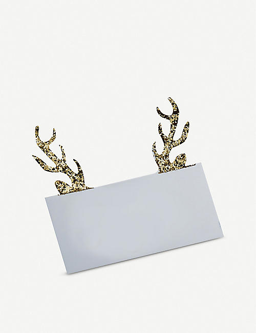 GINGER RAY Antler-shaped place cards pack of 10