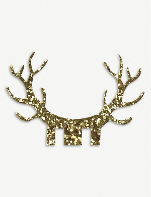 GINGER RAY Glitter antler glass decorations set of 10